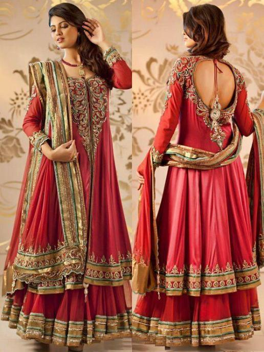 red-Lehenga-Style-Anarkali-for-wedding